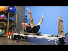 Jumpboard Leg Circles on the Pilates Reformer - YouTube