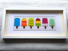 Ice Lolly Picture Ice Lolly Art Glass Ice Lollies Fused