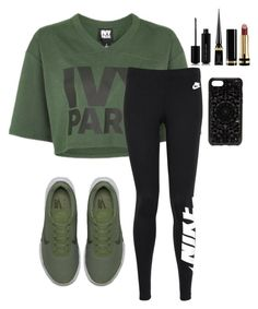 """""""Untitled #1923"""" by mfr-mtz ❤ liked on Polyvore featuring Ivy Park, NIKE, Marc Jacobs, Christian Louboutin, Gucci and Felony Case"""