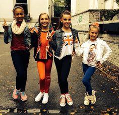 Maddie Ziegler, Mackenzie Ziegler, Kendall Vertes and Nia Frazier Europe Tour
