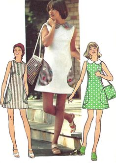 Simplicity pattern 5513 from 1973. Uncut, but unfolded, has instructions, envelope in fair shape.    Simple To Sew mini dress has a back zipper and