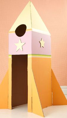 Cardboard Rocketship for the Playroom!  http://www.ohdeedoh.com/ohdeedoh/inspiration/getting-creative-with-cardboard-boxes-sweet-paul-154363