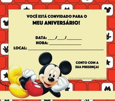 Há diversas ideias de convites do Mickey para combinar com a temática de sua festa. Venha descobrir modelos incríveis para se inspirar, editar e imprimir! Festa Mickey Baby, Mickey Party, Pirate Party, Mickey First Birthday, Mickey Mouse Decorations, Disney Inspired, First Birthdays, Rave, Bernardo
