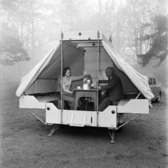 Camping and caravanning holidays became popular in the 1960s as an alternative holiday to stopping in a hotel or boarding home.