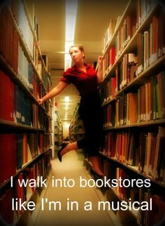 Doesn't everyone feel a little giddy when walk into a bookstore? :)
