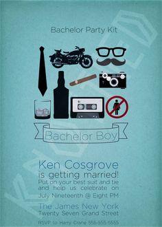 Bachelor Party Kit Invitation - PRINTABLE
