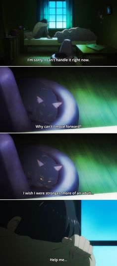 kanojo to kanojo no neko, she and her cat, daru, miyu She And Her Cat, Gravity Falls, Sadness, Neko, Manga Anime, Pikachu, Cats, Heart, Movies