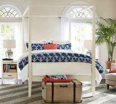 Inspiration photo for 2nd spare bedroom Rope Organic Duvet Cover & Sham | Pottery Barn