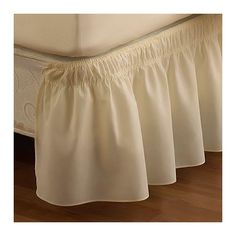 Found it at Wayfair - EasyFit  Wrap Around Solid Ruffled Bed Skirt