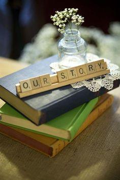 50 Adorable Book and Literary Wedding Ideas   http://www.deerpearlflowers.com/50-adorable-book-literary-wedding-ideas/