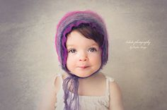 baby bonnet, simply from mohair wool and cotton, newborn Photo prop, baby hat, vintage girl