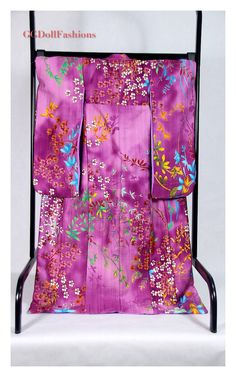Kimono handmade furisode japanese clothing for BJD 1/3 sd, 58-70 sd, eid, yid, iplehouse, sadol love 60, dolfie dream , volks. by GGDollFashions on Etsy