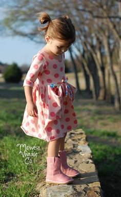 The Penelope Pockets Knit Dress Sewing Pattern by Honeydew Kisses