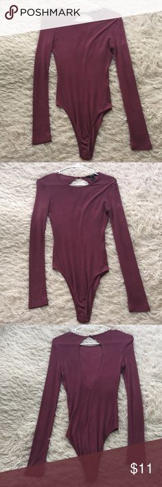 Light purple forever 21 body suit Size small  Wore a couple times  Only offer if you want it 💗💗 Forever 21 Tops