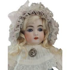Kestner 152 Antique German Bisque Doll, 13 IN, Stamped Body, Antique from ashleysdollsandantiquities on Ruby Lane