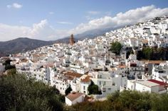 andalousie: Les maisons blanches de Competa, Andalousie, Espagne Banque d