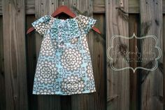 Amy Butler Wall Flower Ruffle Tunic DressPERFECT by thetrendybaby, $35.00