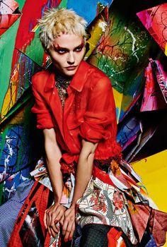 Sasha Pivovarova by Mario Sorrenti for Vogue Italia, February 2015.