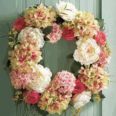 Hydrangea and Peony Wreath, Monticello Catalog