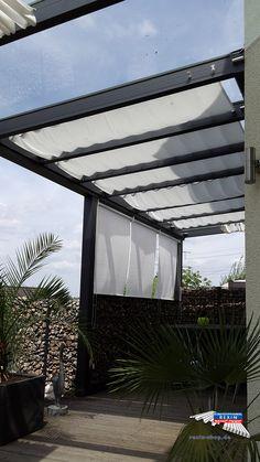 ein alu terrassendach der marke rexopremium anthrazit 4m x 3 50 m die glaseindeckung wur alu. Black Bedroom Furniture Sets. Home Design Ideas