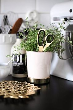 Kitchen design tips; Using things which have dual purposes may help you maximize a compact space. Nordic Interior, Kitchen Interior, Home Design, Kitchen Dining, Kitchen Decor, Kitchen Herbs, Kitchen Corner, Kitchen Stuff, Joy Of Cooking