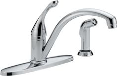 Collins Single Handle Centerset Water Efficient Kitchen Faucet with Spray