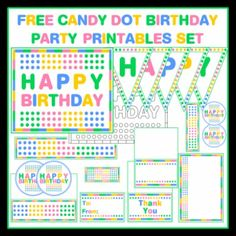 Free Candy Dot Birthday Party Printables