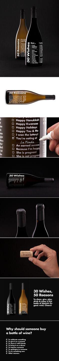 30 Wishes, 50 Reasons #wine #taninotanino vinos inteligentes