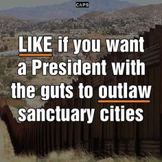 The next President of the United States should uphold our immigration laws and outlaw sanctuary cities. Do you agree?