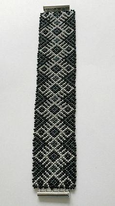 Mexican Jewelry Huichol Beaded Bracelet for men for women Cuff