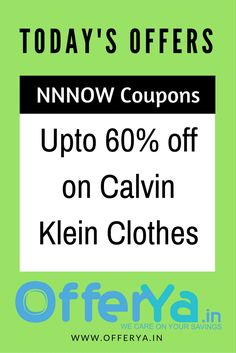 NNNOW Store: Upto 60% off on Calvin Klein Clothes