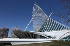 Quadracci Pavilion, The Milwaukee Museum of Art, designed by Spanish architect Santiago Calatrava