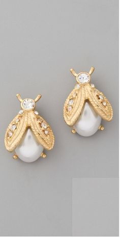 Kenneth Jay Lane Earrings   - bugs are going to be really big this spring