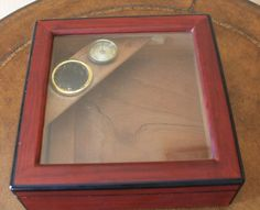 Cherry Wood Cigar Box Humidor with Hygrometer by CaliforniaPicks, $18.00