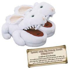 Monty Python Rabbit with Big Pointy Teeth Slippers /  www.entertainmentearth.com
