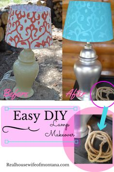 Easy DIY Lamp Makeover The Effective Pictures We Offer You About Diy Lamp Makeover thrift stores A q Lamp Makeover, Household Organization, Decorating On A Budget, Easy Diy, Diy Crafts, Lights, Crafty, Projects, Beauty Makeup
