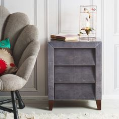 Betsy Bedside Table in Grey - View All Furniture - Furniture