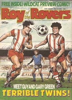 Roy of the Rovers History Page, My Youth, Comic Covers, Comic Character, Vintage Books, My Childhood, Twins, British, Characters
