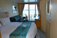 This is a deluxe balcony stateroom on Oasis of the seas.