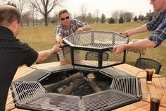 """Fantastic """"outdoor fire pit designs"""" detail is offered on our web pages. Fire Pit Grill, Fire Pit Backyard, Barbecue Grill, Grilling, Outdoor Fire, Outdoor Living, Natural Gas Fire Pit, Grill Table, Fire Pit Designs"""