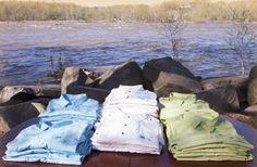 Natural Border shirts look great next to the water!