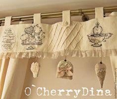 """Купить Комплект """"Традиционное английское"""" - белый, кремовый, шторы, шторы на кухню, шторы в детскую"""
