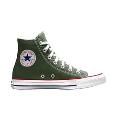 Custom Converse All Star Chuck Taylor High Top Size Men's 9.5 Herbal Green #Converse #HighTop