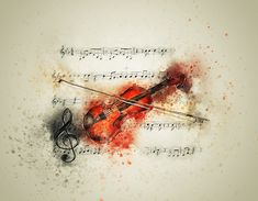 Free Image on Pixabay - Violin, Music, Notes, Art, Abstract Violin Painting, Violin Art, Violin Sheet Music, Shakespeare Quotes, Music Pictures, Music Notes, Classical Music, Art Music, Illustration