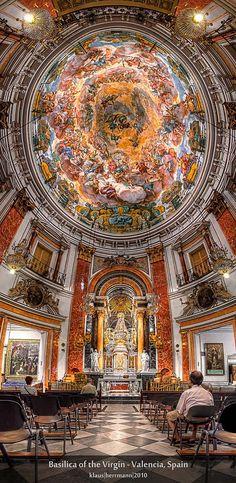 Basílica de la Virgen .Valencia, España.