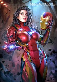 Dessins Captain America Civil War en version filles sexy  Cassie a emprunté l'armure, huhu.