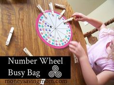 Busy Bag Idea: Number Wheel