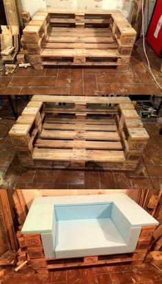Skid pallet furniture designs