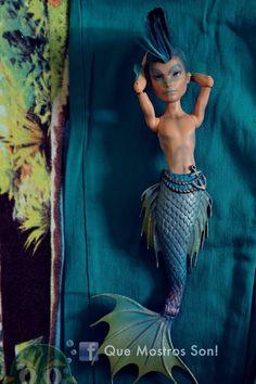Monster High Mermaid, Monster High Boys, Monster Dolls, Monster High Repaint, Ooak Dolls, Blythe Dolls, Doll Repaint, Custom Dolls, Ever After