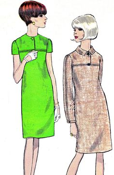 1960s Dress Pattern Vogue 6836 Mod Day or Evening by paneenjerez, $18.00